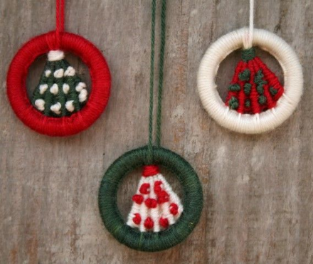 Dorset Button Kit - Christmas Tree Hanging Ornaments
